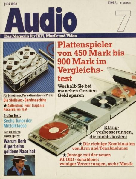 Audio 7/1982 Zeitschrift