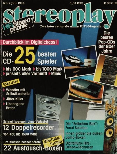 Stereoplay 7/1993 Zeitschrift