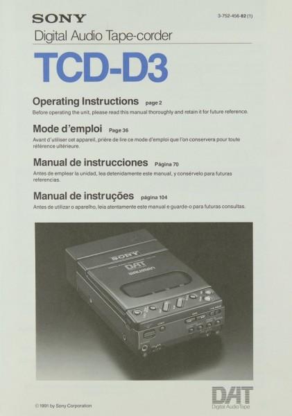 Sony TCD-D 3 Bedienungsanleitung