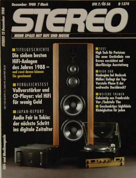 Stereo 12/1988 Zeitschrift
