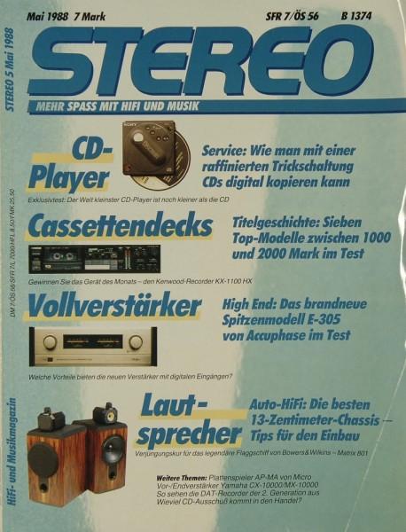 Stereo 5/1988 Zeitschrift