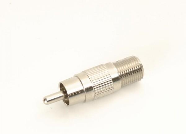 Adapter Cinchstecker F-Buchse (Sat)