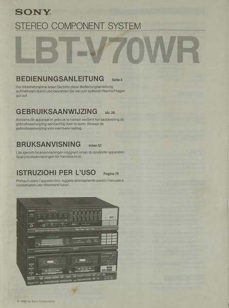 Sony LBT-V 70 WR Bedienungsanleitung