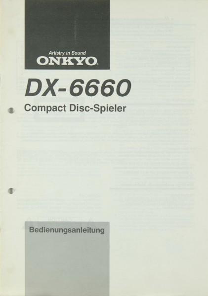 Onkyo DX-6660 Bedienungsanleitung