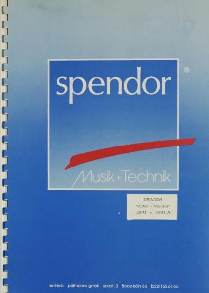 Spendor 150/1 / 150/1A Bedienungsanleitung
