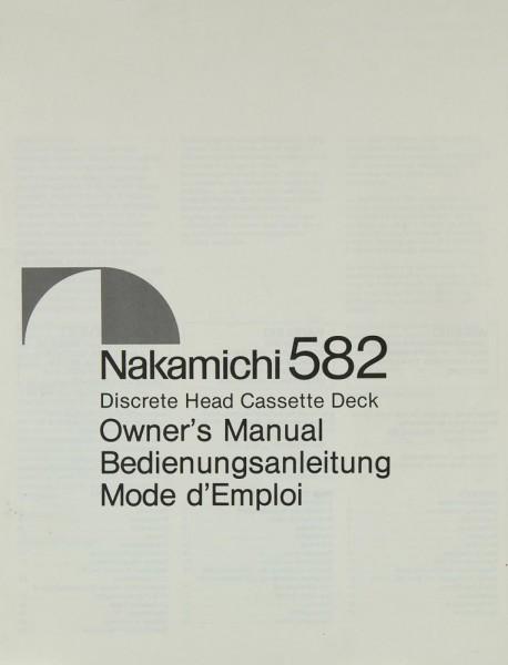 Nakamichi 582 Bedienungsanleitung