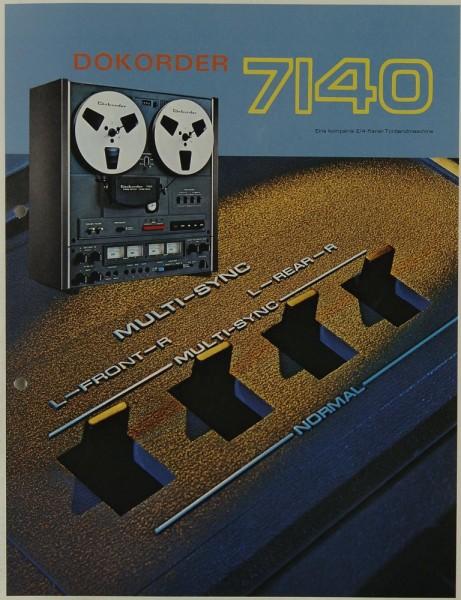Dokorder 7140 Prospekt / Katalog