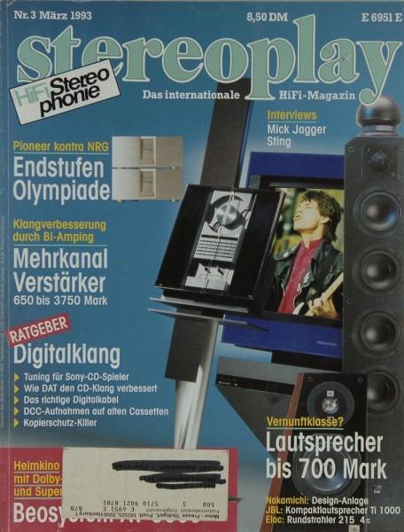 Stereoplay 3/1993 Zeitschrift