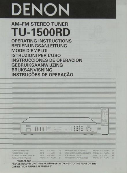 Denon TU-1500 RD Bedienungsanleitung