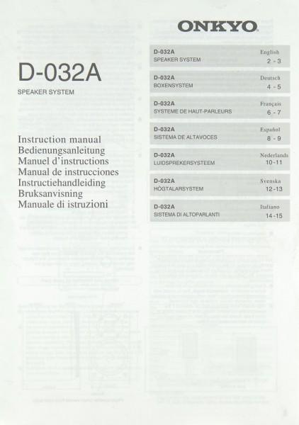 Onkyo D-032 A Bedienungsanleitung
