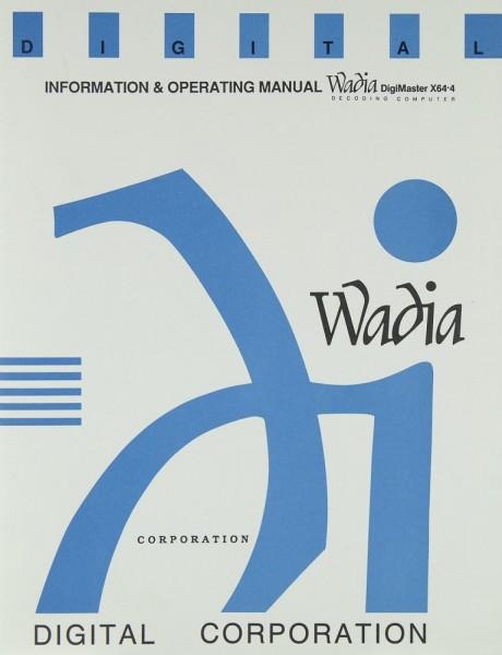 Wadia X 64-4 Bedienungsanleitung