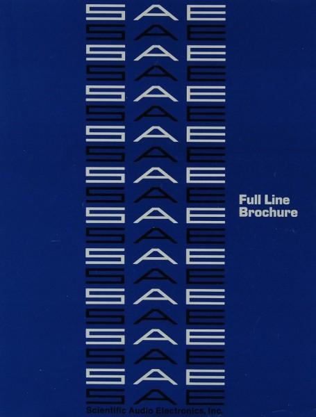 SAE Full Line Brochure Prospekt / Katalog