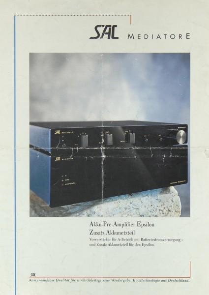 SAC-Mediatore Epsilon Prospekt / Katalog