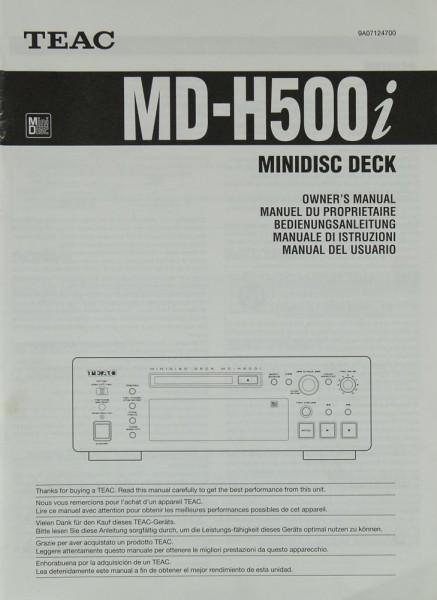 Teac MD-H 500 i Bedienungsanleitung