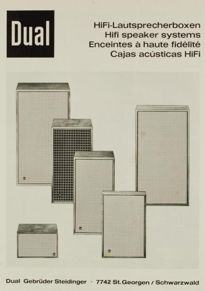 Dual HiFi-Lautsprecherboxen Prospekt / Katalog