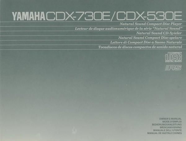 Yamaha CDX-730 E / 530 E Bedienungsanleitung