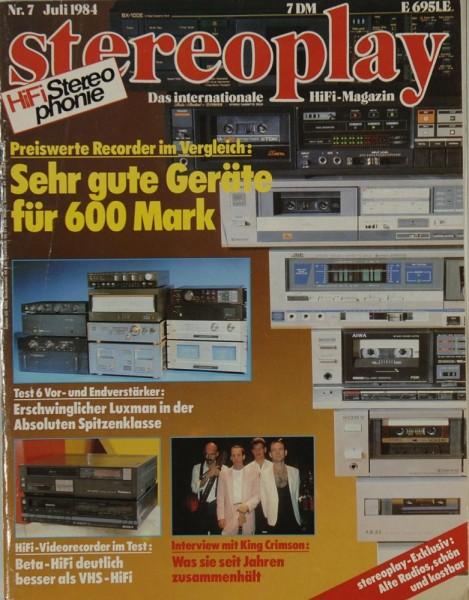 Stereoplay 7/1984 Zeitschrift