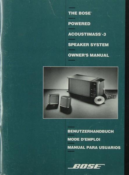 Bose Acoustimass-3 Bedienungsanleitung