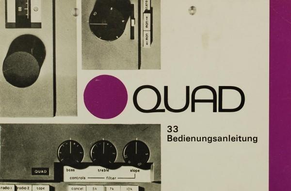 Quad 33 Bedienungsanleitung