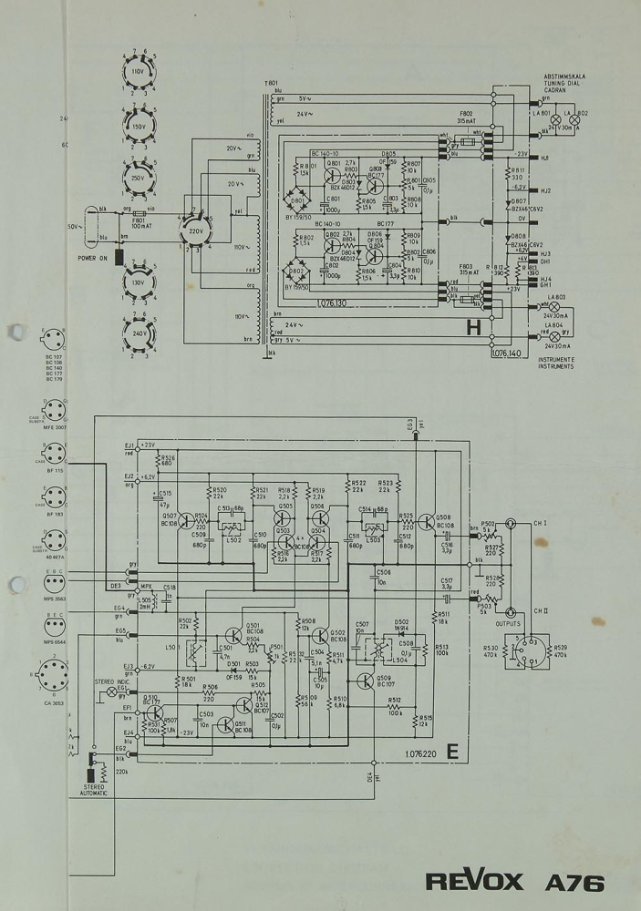 revox a 76 schematics    service manual