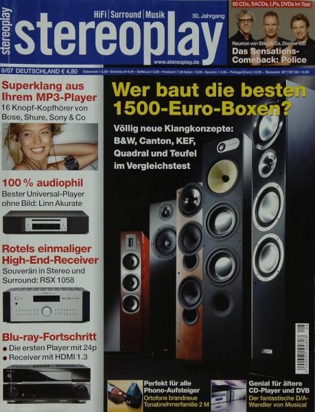 Stereoplay 8/2007 Zeitschrift