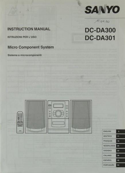 Sanyo DC-DA 300 / DC-DA 301 Bedienungsanleitung