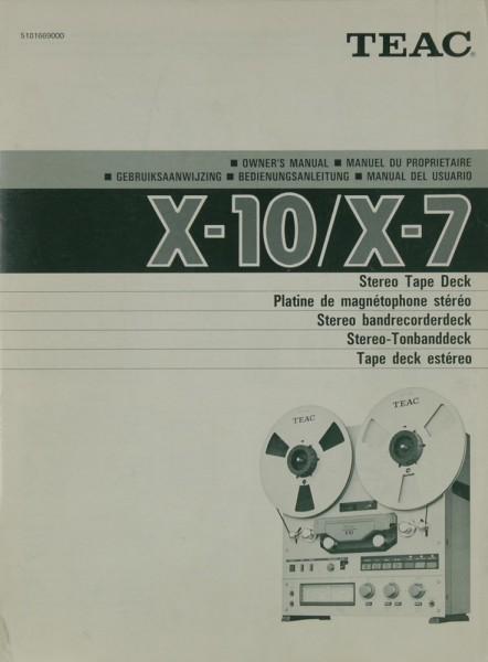 Teac X-10 / X-7 Bedienungsanleitung
