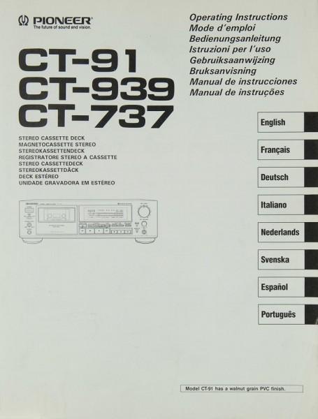 Pioneer CT-91 / CT-939 / CT-737 Bedienungsanleitung