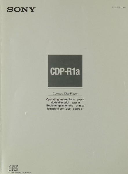 Sony CDP-R 1a Bedienungsanleitung