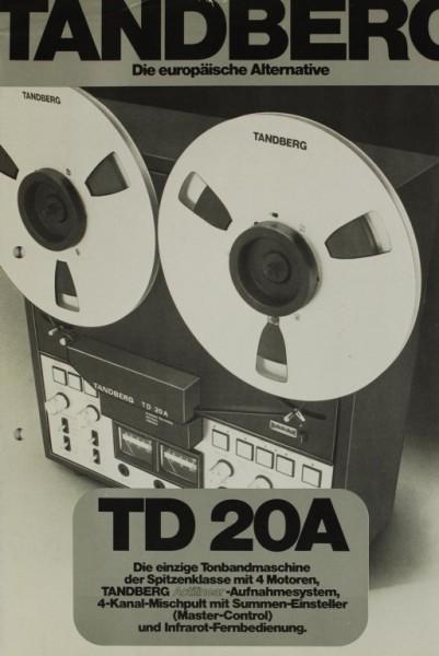 Tandberg TD 20A Prospekt / Katalog