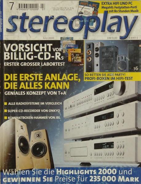 Stereoplay 7/2000 Zeitschrift