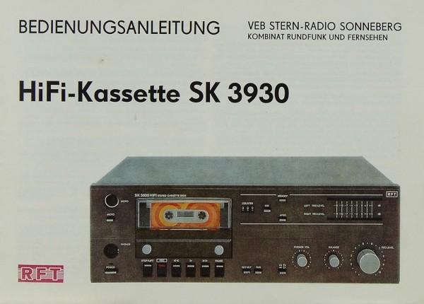 RFT SK 3930 Bedienungsanleitung