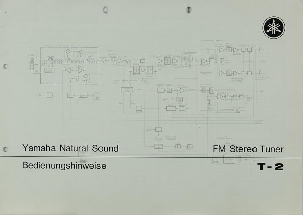 Yamaha T-2 Schaltplan / Serviceunterlagen