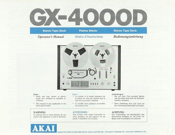 Akai GX-4000 D Bedienungsanleitung