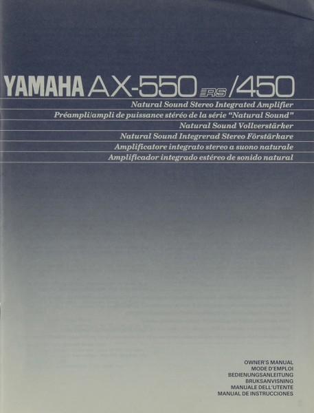 Yamaha AX-550 / 450 Bedienungsanleitung