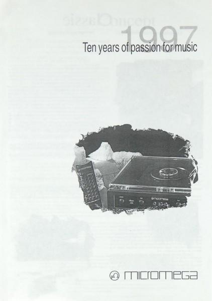 Micromega Ten Years of Passion for Music Prospekt / Katalog