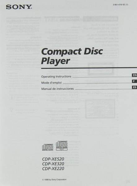 Sony CDP-XE 520 / CDP-XE 320 / CDP-XE 220 Bedienungsanleitung