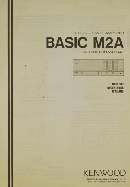 Kenwood Basic M2A Bedienungsanleitung