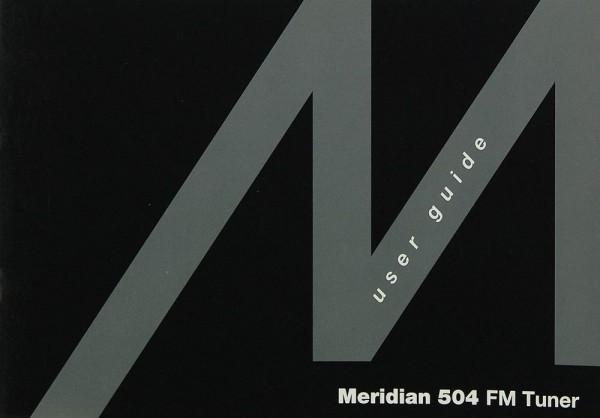 Meridian 504 Bedienungsanleitung