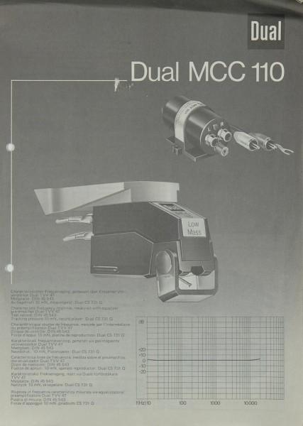 Dual MCC-110 Bedienungsanleitung