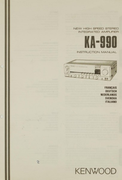 Kenwood KA-990 Bedienungsanleitung