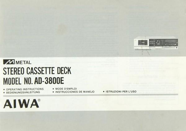 Aiwa AD-3800 E Bedienungsanleitung