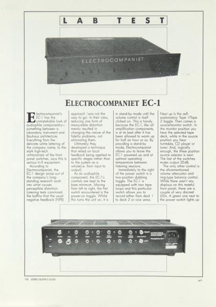 Electrocompaniet EC-1 Testnachdruck