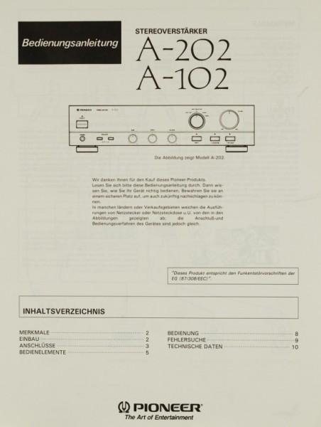 Pioneer A-202 / A-102 Bedienungsanleitung