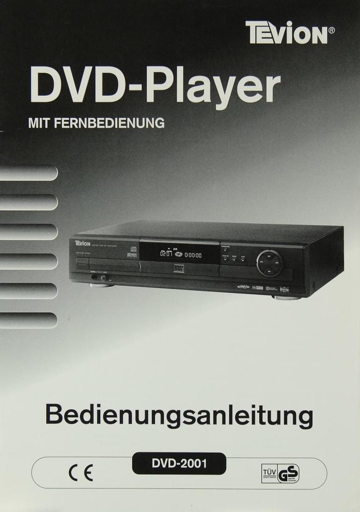 tevion dvd 2001 bedienungsanleitung dvd player tevion. Black Bedroom Furniture Sets. Home Design Ideas