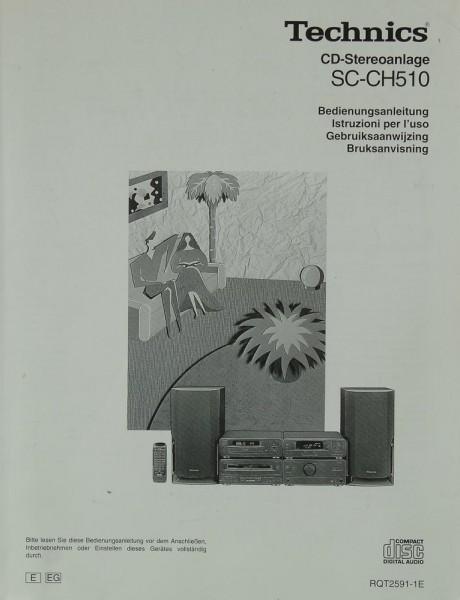 Technics SC-CH 510 Bedienungsanleitung