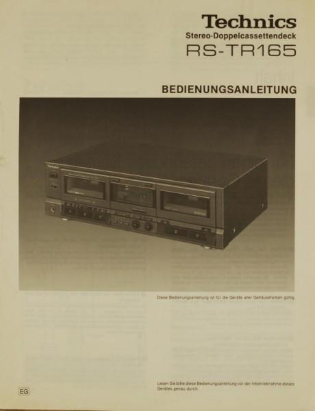 Technics RS-TR 165 Bedienungsanleitung