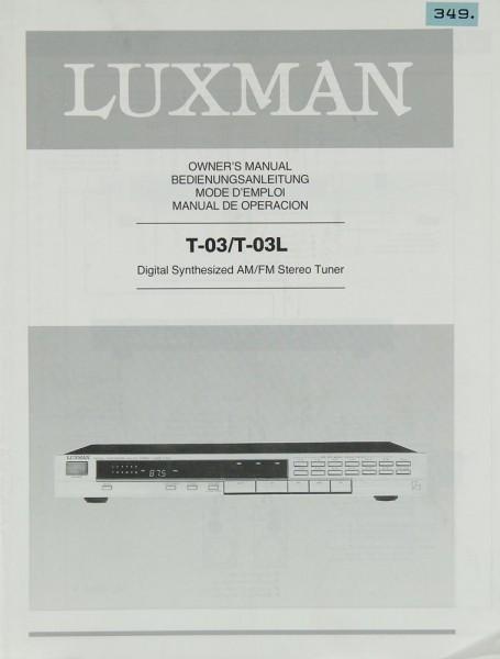 Luxman T-03 / T-03 L Bedienungsanleitung