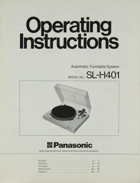 Panasonic SL-H 401 Bedienungsanleitung