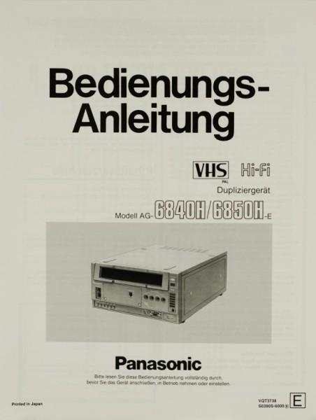 Panasonic Modell AG-6840H / 6850H-E Bedienungsanleitung